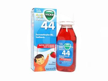 Vicks Formula 44 Anak Rasa Strawberry Sirup 54 mL harga terbaik 15065