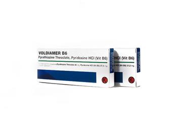 Voldiamer B6 tablet digunakan untuk mencegah mual pada ibu hamil, pasca operasi dan saat melakukan perjalanan.