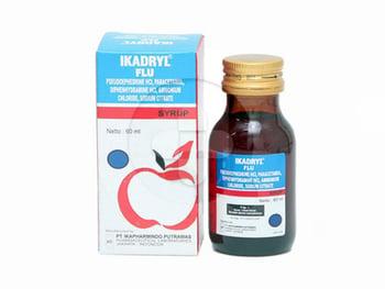 Ikadryl Flu Rasa Apel Sirup 60 mL harga terbaik 24134