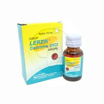 Lerzin drops adalah adalah obat untuk mengatasi alergi seperti urtikaria dan rhinitis alergi