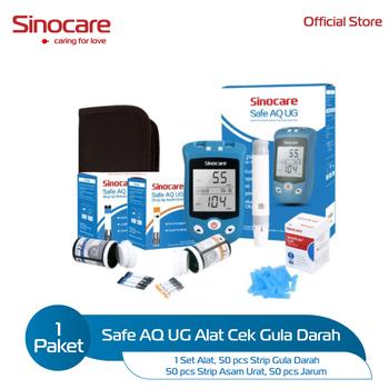 Sinocare Safe AQ UG Kits - Alat Cek Gula Darah dan Asam Urat harga terbaik 167900