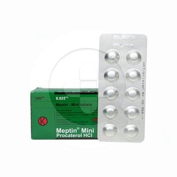 Meptin Mini Tablet obat untuk mengatasi berbagai gejala sumbatan pada saluran pernapasan.