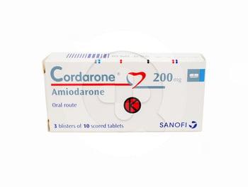 Cordarone Tablet 200 mg (3 Strip @ 10 Tablet)