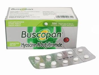 Buscopan Tablet adalah obat untuk mengurangi nyeri akibat kram pada otot saluran pencernaan.