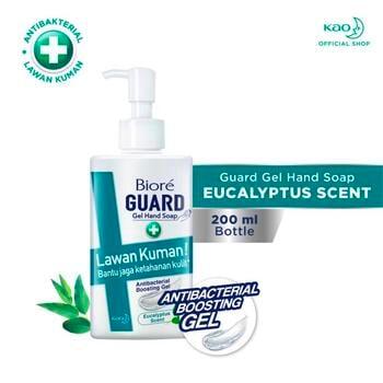 Biore Guard Gel Hand Soap Anti Bakteri Eucalyptus Scent Botol 200 ml harga terbaik 18000