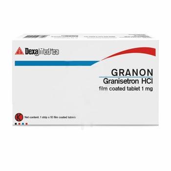 Granon tablet adalah obat untuk mencegah terjadinya mual dan muntah akibat terapi kanker (kemoterapi).