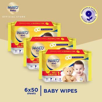 Paseo Baby Tissue Basah Chamomile 50 Sheets  harga terbaik 57900