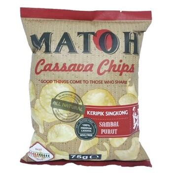 Matoh Cassava Chips - Keripik Singkong Rasa Sambal Purut 75 g