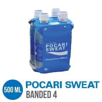 Pocari Sweat PET 500 ml - Banded 4 Botol harga terbaik 28000