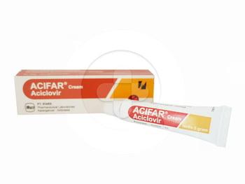 Acifar krim adalah obat untuk mengobati gejala infeksi virus herpes simpleks pada kulit