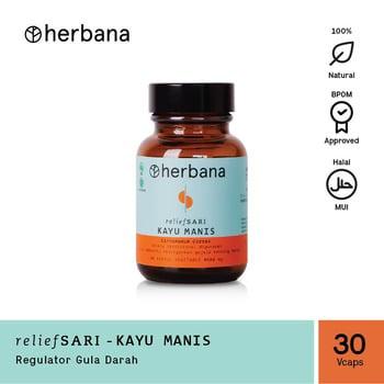 Herbana Relief Sari Kayu Manis - 30 Kapsul harga terbaik 119000