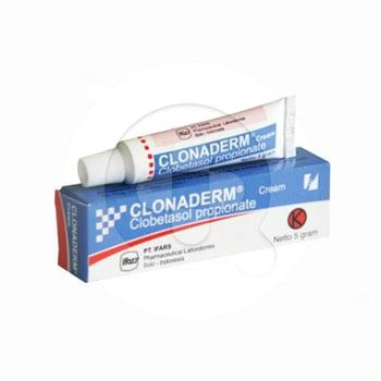 Clonaderm 0,05% krim digunakan untuk mengobati peradangan kulit.