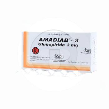 Amadiab kaplet adalah obat untuk mengontrol kadar gula darah pada pasien diabetes melitus tipe 2