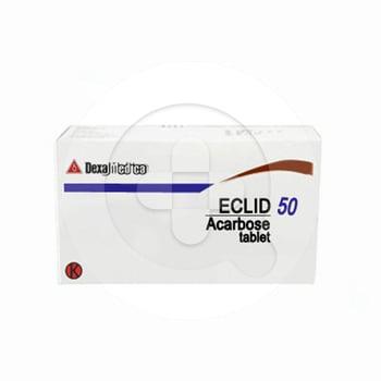 Eclid tablet adalah obat untuk terapi kombinasi pasien diabetes tipe 2 yang disertai dengan diet.