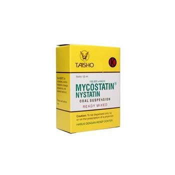 Mycostatin suspensi oral adalah obat untuk mengobati infeksi jamur pada rongga mulut