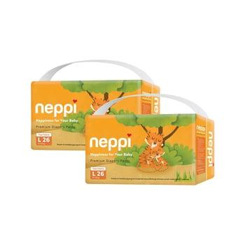 Neppi Premium Baby Diaper Pants L 26 - Twinpack harga terbaik 133800