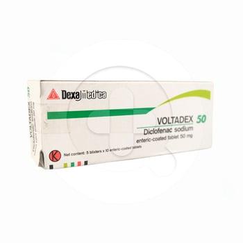 Voltadex tablet 50 mg untuk mengobati nyeri yang disebabkan oleh peradangan sendi.