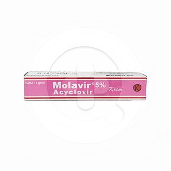 Molavir krim adalah obat untuk mengatasi infeksi virus herpes simpleks pada kulit dan genital