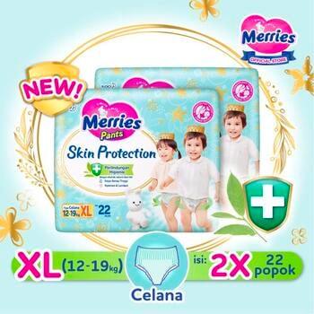 Merries Skin Protection Popok Bayi Celana XL 22  harga terbaik 166200