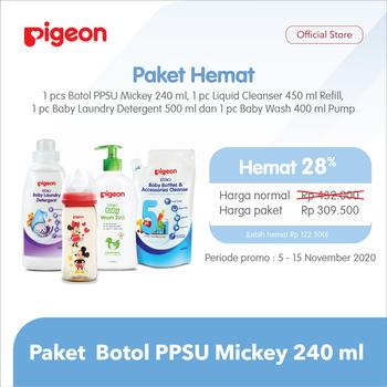 Pigeon Paket Botol PPSU Mickey Disney 240 ml harga terbaik