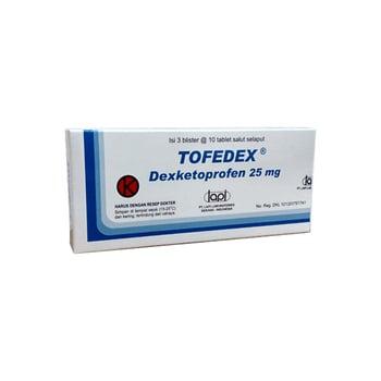 Tofedex tablet digunakan untuk meredakan nyeri otot akut, nyeri setelah operasi dan nyeri haid (dismenore).