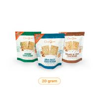 Mini Set of 3 Casa Grata Crackers @ 20 g with 1 SC + 1 SS + 1 H
