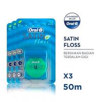 Oral-B Benang Gigi Satin Floss 50 M - Paket isi 3