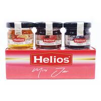 Helios Selai Buah Fruit Preserve Mini Jar Tripack (Strawberry, Bitter Orange, Blueberry) 28 g