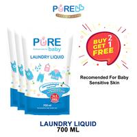 Pure Baby Laundry Liquid 700 ml - Refill (Beli 2 Gratis 1)