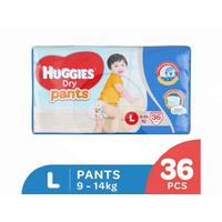 Huggies Dry Pants Popok Celana L 36