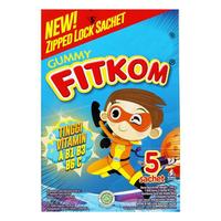 Fitkom Gummy Fruit and Veggie (1 Box @ Ziped Lock Sachet)