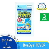 Bye Bye Fever Multipack - Plester Kompres Demam Anak 3 Lembar