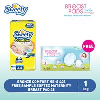 Sweety Bronze Comfort NB-S 44s FREE Softex Maternity Breast Pad 4s