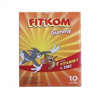 Fitkom Gummy Vitamin C and Zinc (1 Box @ 5 Sachet)