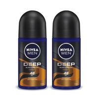 NIVEA MEN Deodorant Deep Espresso Roll On 50 mL - Twin Pack