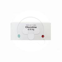 Clonidine Tablet 0,15 mg (1 Strip @ 10 Tablet)