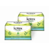 Kotex Liners Aloe Vera 20s (2 Pack)