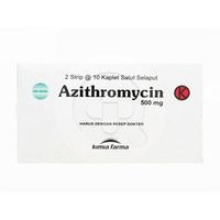 Azithromycin Kaplet 500 mg (1 Strip @ 10 Kaplet)
