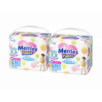 MERRIES Baby Diapers Pants L 22S Twinpack