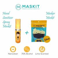 Paket Masker MASKIT & Hand Sanitizer 30 mL