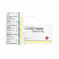 Glimepiride OGB Dexa Medica Tablet 3 mg (10 Strip @ 10 Tablet)