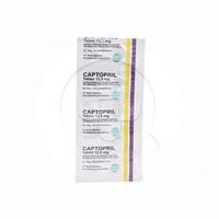 Captopril Tablet 12,5 mg (1 Strip @ 10 Tablet)