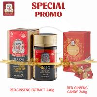 Cheong Kwan Jang Promo Spesial Korean Red Ginseng Extract 240 g + Reenese Ginseng Candy