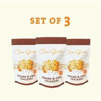 Casa Grata Crackers Set of 3 - 3 Sesame & Chia