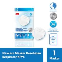 3M Nexcare Masker Kesehatan Respirator KF94  (1 Pack @ 1 Pcs)