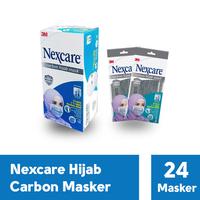 3M Nexcare Extra Carbon Hijab Mask 4 Ply (1 Box @ 24 Pcs)