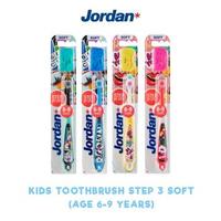 Jordan Kids Toothbrush Step 3 (6-9 Years) Soft (1 Pack @ 1 Pcs)