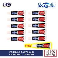 10 Gratis 1 - Pasta Gigi Formula Charcoal 25 g