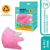 Maskit Masker Duckbill Earloop Dewasa 4Ply - Pink (10 Pcs)