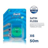 Oral-B Benang Gigi Satin Floss 50 M - Paket isi 6